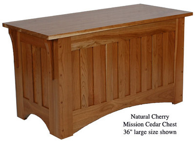 "Mission Chest 36"" - Natural Cherry"