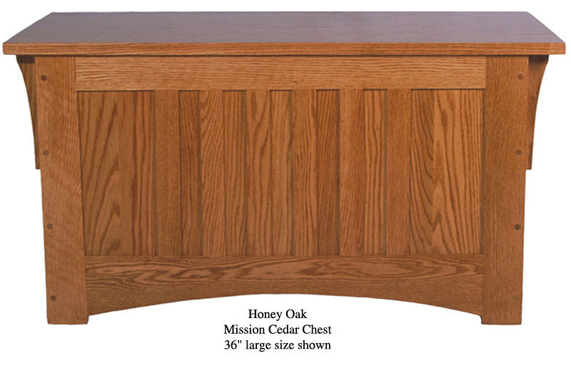 "Mission Chest 36"" - Honey Oak"