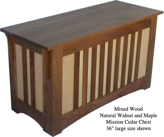 "Mission Chest 36"" - Walnut & Maple Mixed"