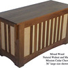 """Mission Chest 36"""" - Walnut & Maple Mixed"""