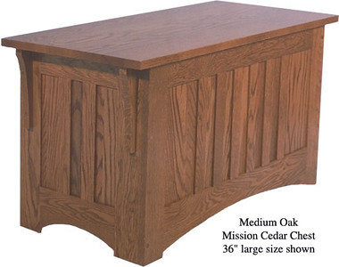 "Mission Chest 36"" - Medium Oak"