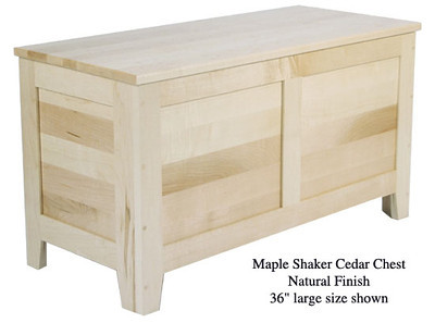 "Shaker Chest 36"" - Natural Maple"