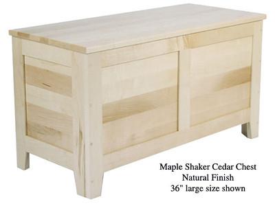 "Shaker Chest 36"" - Natural Maple"