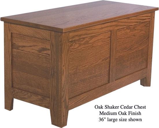 """Shaker Chest 36"""" - Medium Oak"""