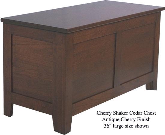 "Shaker Chest 36"" - Antique Cherry"