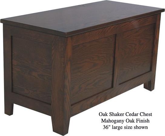 """Shaker Chest 36"""" - Mahogany Oak"""