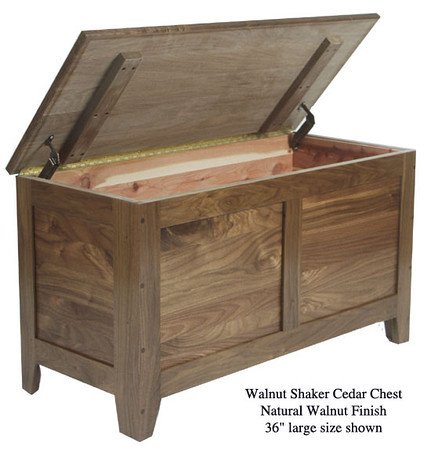 "Shaker Chest 36"" - Natural Walnut"