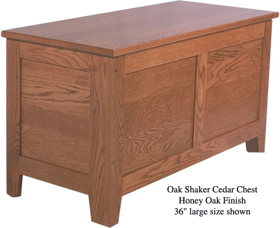 "Shaker Chest 36"" - Honey Oak"