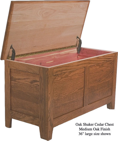 "Shaker Chest 36"" - Medium Oak"