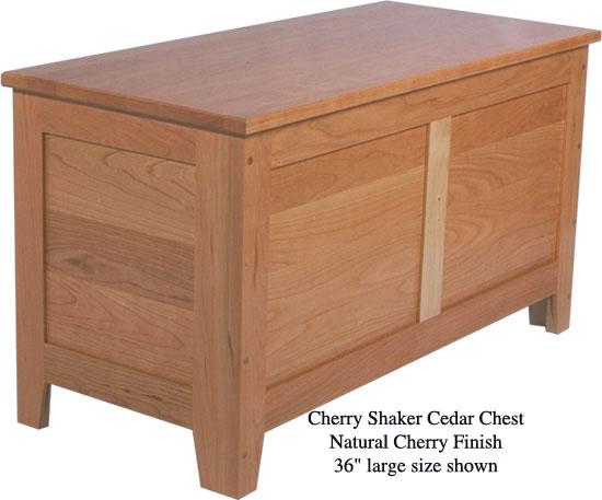 "Shaker Chest 36"" - Natural Cherry"