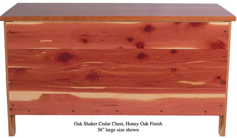 """Shaker Chest 36"""" - Honey Oak (Rear Panel)"""