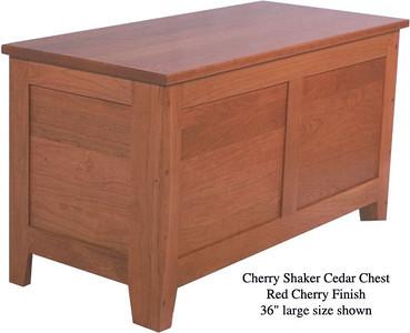 """Shaker Chest 36"""" - Red Cherry"""