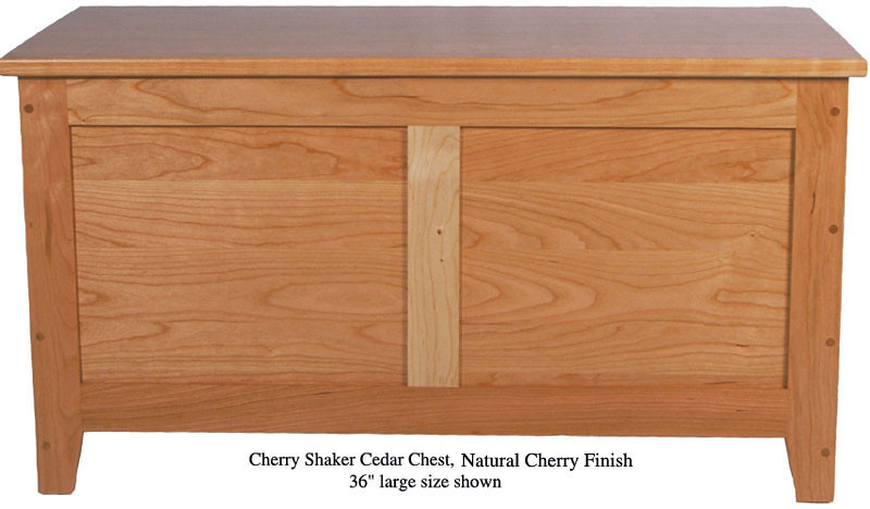 "Shaker Chest 36"" - Natural Cherry"