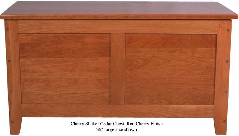 "Shaker Chest 36"" - Red Cherry"
