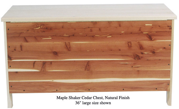 "Shaker Chest 36"" - Natural Maple (Rear Panel)"