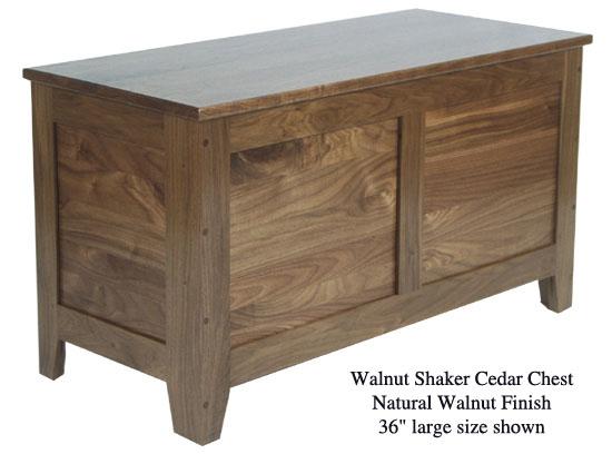 "Shaker Chest 36"" - Natural Walnut"