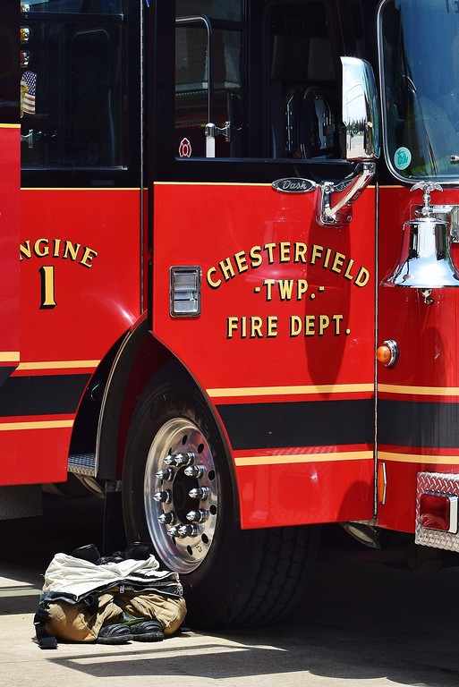 . Local families learned about safety during the Chesterfield Township Fire Department\'s annual Child Safety Day event on June 3.  (Photos by Katelyn Larese)