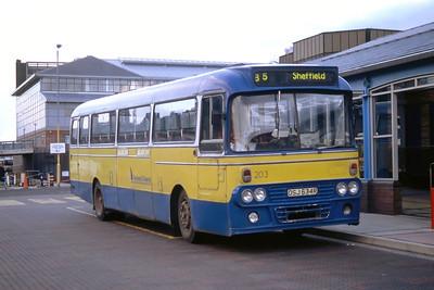 Chesterfield_Retford and District 203 Sheffield Interchange Sep 94