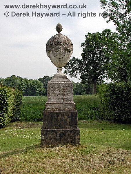 The Chatham Vase, in position at Chevening.  02.06.2002