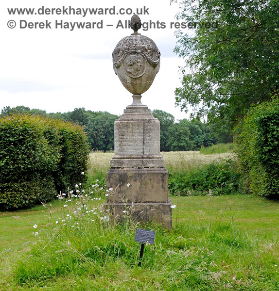 The Chatham Vase is a stone sculpture by John Bacon commissioned as a memorial to William Pitt the Elder by his wife, Hester, Countess of Chatham. It was originally erected at their house in Burton Pynsent in 1781 but it was subsequently moved to Stowe House. It was purchased in 1857 by a member of the family and installed at Revesby Abbey.  It was moved to the grounds of Chevening House in 1934.  It is Grade II listed.  22.06.2014  10714