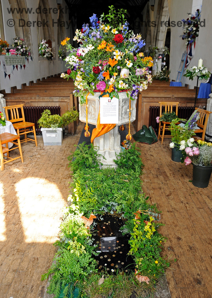 The Font of St Botolphs Church, Chevening.  19.06.2015  12866