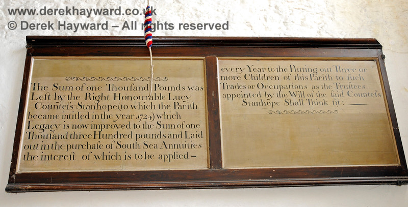 Bequest Boards at the base of the Tower of St Botolphs Church, Chevening.  19.06.2015  12855