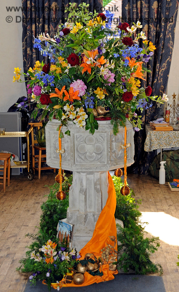 The Font of St Botolphs Church, Chevening.  19.06.2015  12853