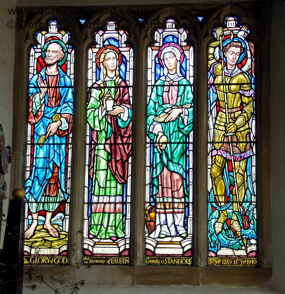 To the Glory of God and in Memory of Eileen, Countess Stanhope, 3 September 1889 - 18 September 1940. (Wife of the 7th Earl Stanhope, formerly Lady Eileen Agatha Browne).  Stanhope Chantry (Chapel), St Botolphs Church, Chevening.  19.06.2015  12806