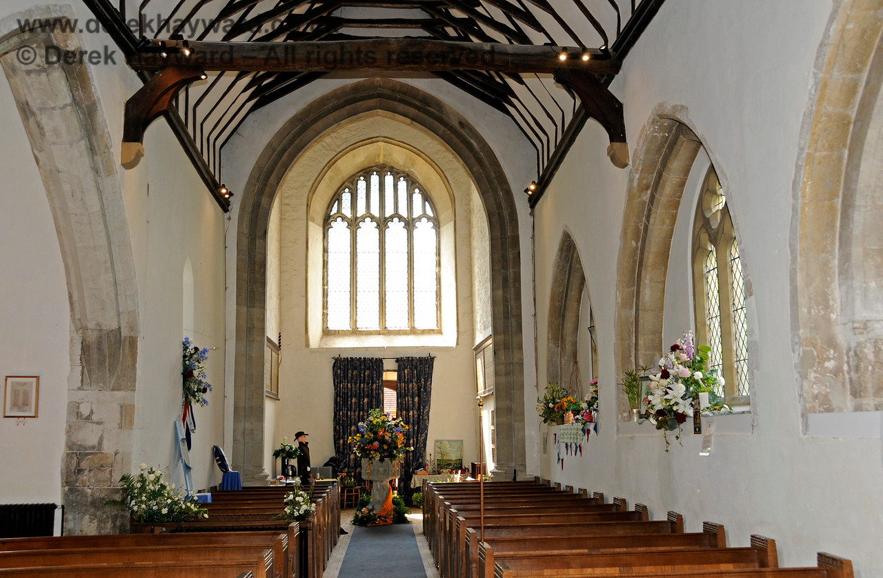 The Nave and North Aisle of St Botolphs Church, Chevening looking west towards the Font.  19.06.2015  12847