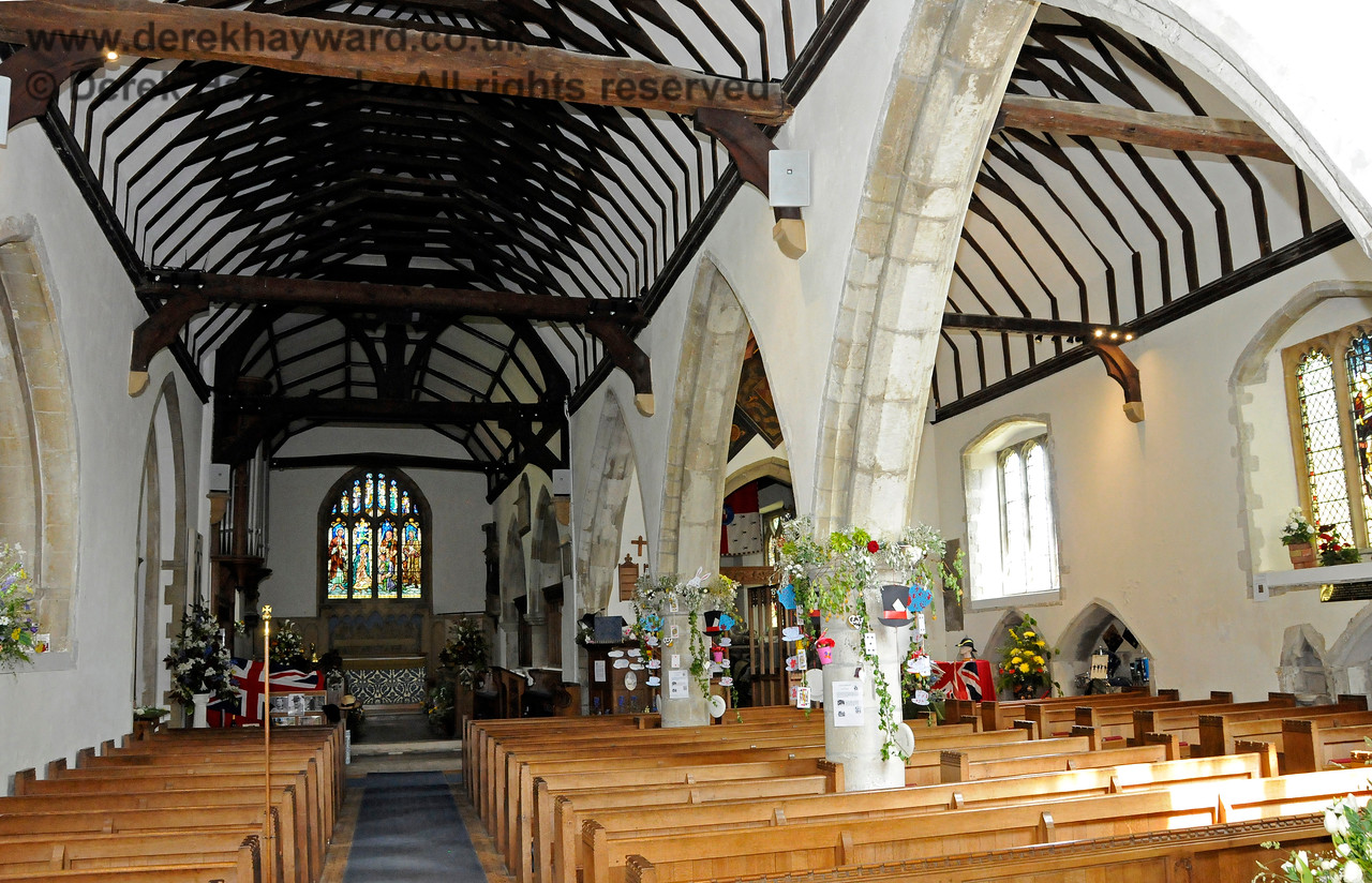 The interior of St Botolphs Church, Chevening.  19.06.2015  12851