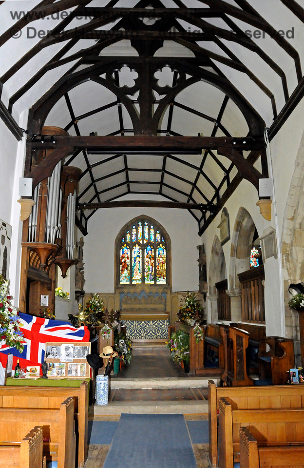 The Nave and North Aisle of St Botolphs Church, Chevening, looking towards the Choir.  19.06.2015  12842