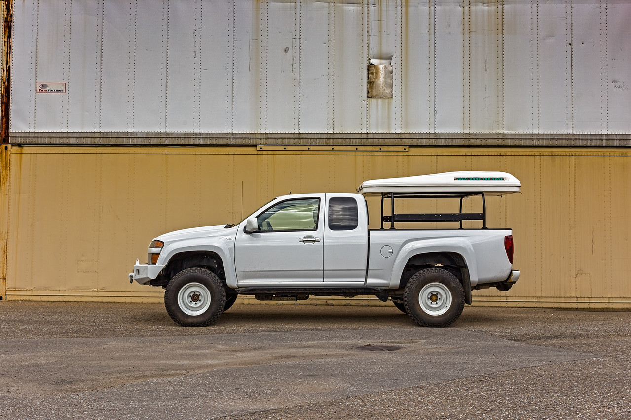 2012 Chevrolet Colorado V8 Daily Camper Build Expedition Portal 2009 Chevy Z71 Fuse Box Bs And 0 Offset I Painted Them White With Some Zero Rust Paint Running A Set Of Studded 235 85r16 Firestone Mt Tires Im Pretty Happy This Setup