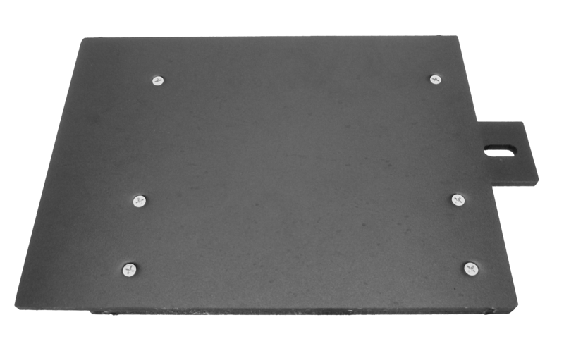 "Front view of custom amplifier mounting board from  <a href=""http://www.car-speaker-adapters.com"">http://www.car-speaker-adapters.com</a>"