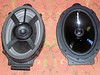 "Front view: Factory 6x9 compared to aftermarket speaker and speaker adapter  from  <a href=""http://www.car-speaker-adapters.com/items.php?id=SAK067""> Car-Speaker-Adapters.com</a>"