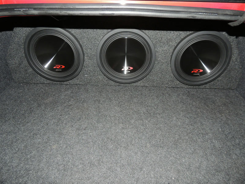 Subwoofers installed in trunk