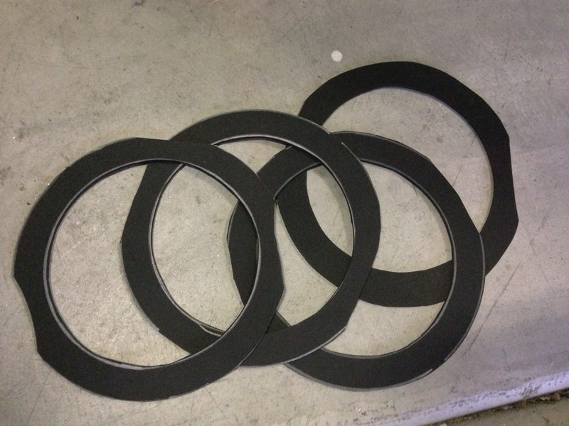 Foam gasket rings made from craft store