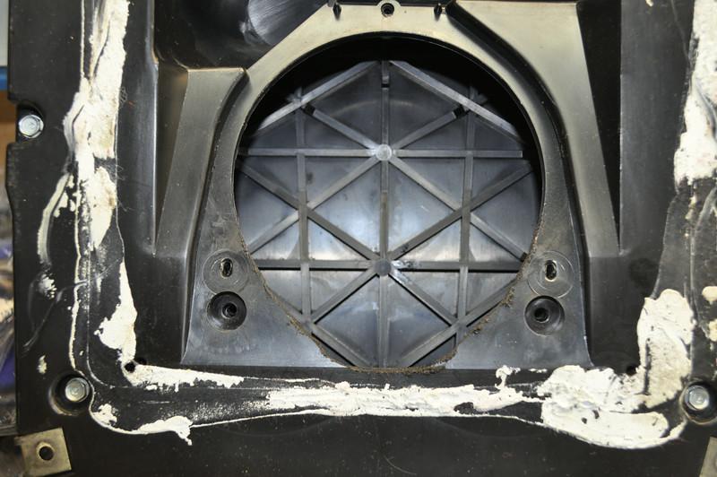 OEM enclosure with speaker removed