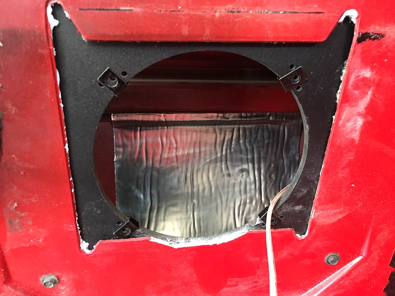 "Speaker adapter from <a href=""http://car-speaker-adapters.com"">http://car-speaker-adapters.com</a> installed in door"