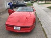 Front view of Corvette