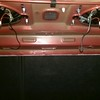 Trunk view of aftermarket speakers installed