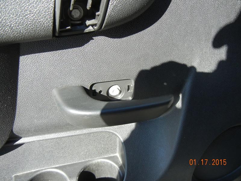 Door with trim removed
