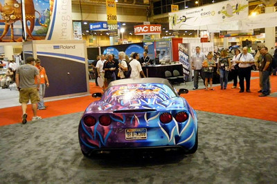Custom wrap on a Corvette Z 06 for Epson at the SGIA Expo in New Orleans, LA.www.skinzwraps.com
