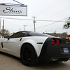 Partial Matte Black on a Chevy Corvette, Dallas, TX