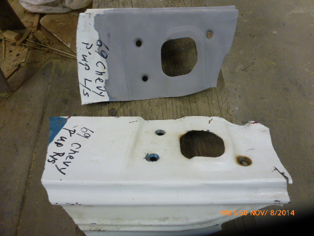 "Donor ""Latch Plates"" from a `69 Chevy pick-up..."
