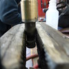 "Side view of ""reconditioned"" door handle shaft.."