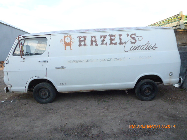 Candy-Van as it was drug home on a chain...