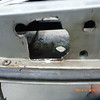 Both of the cab door latch mounts were broke out around the screws...