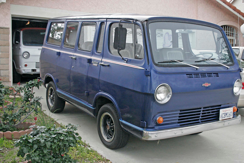 Everyone should have at least two of these beauties.  White van is really solid and rust free so it is the primary project here. Ole blue is going to donate some parts and exchange some parts to get the panel project further along. Ole blue originally was red and belonged to the Waterloo NY Volunteer Fire Department. After that service, she has no doubt been a lot of fun for who knows how many owners. I bought it from a beach community in the San Diego area. She has lots of rust but it's been well disguised and she really drives well. I plan to put her up for sale in the near future. She has lots of fun left to give. I try to drive it at least a little every week since the panel is still under construction.
