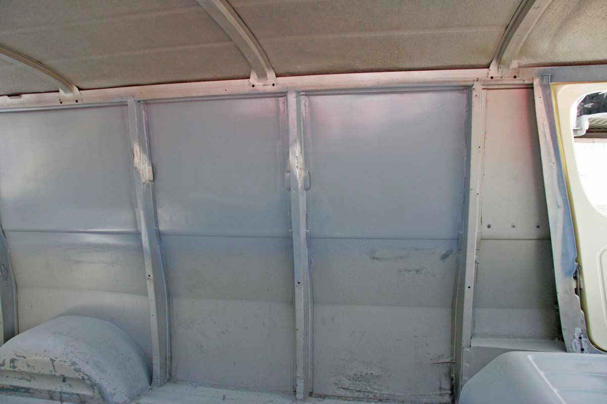 June 2014 Got the interior bodywork done. This is where a PO installed a picture window