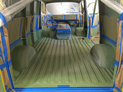August 2014.  Lizard Skin goes on next for sound and thermal insulation.  That gets protected with bedliner.